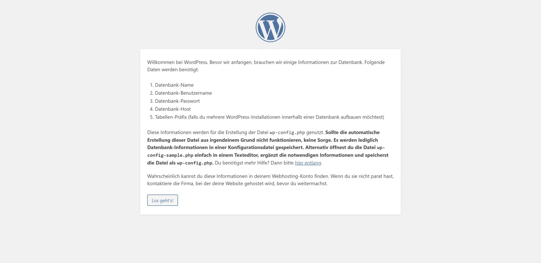 WordPress auf XAMPP installieren