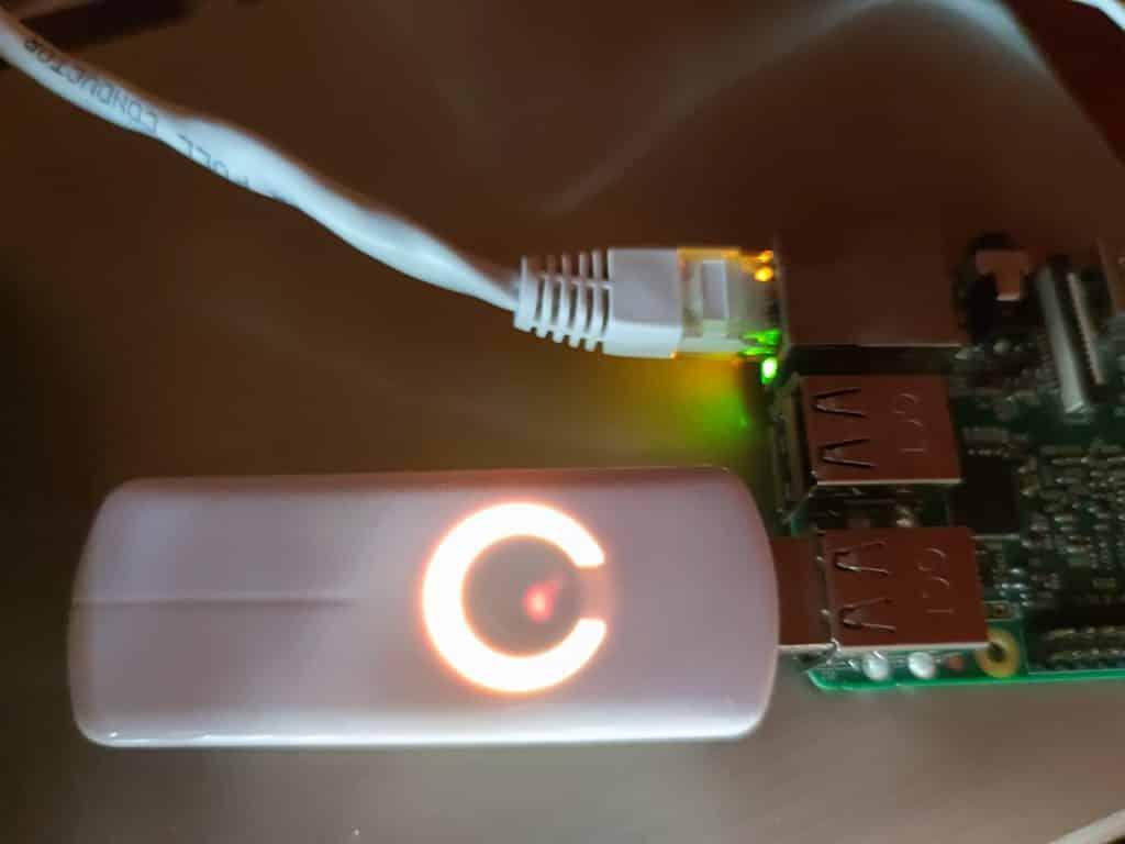 Z-Wave Stick am Raspberry Pi